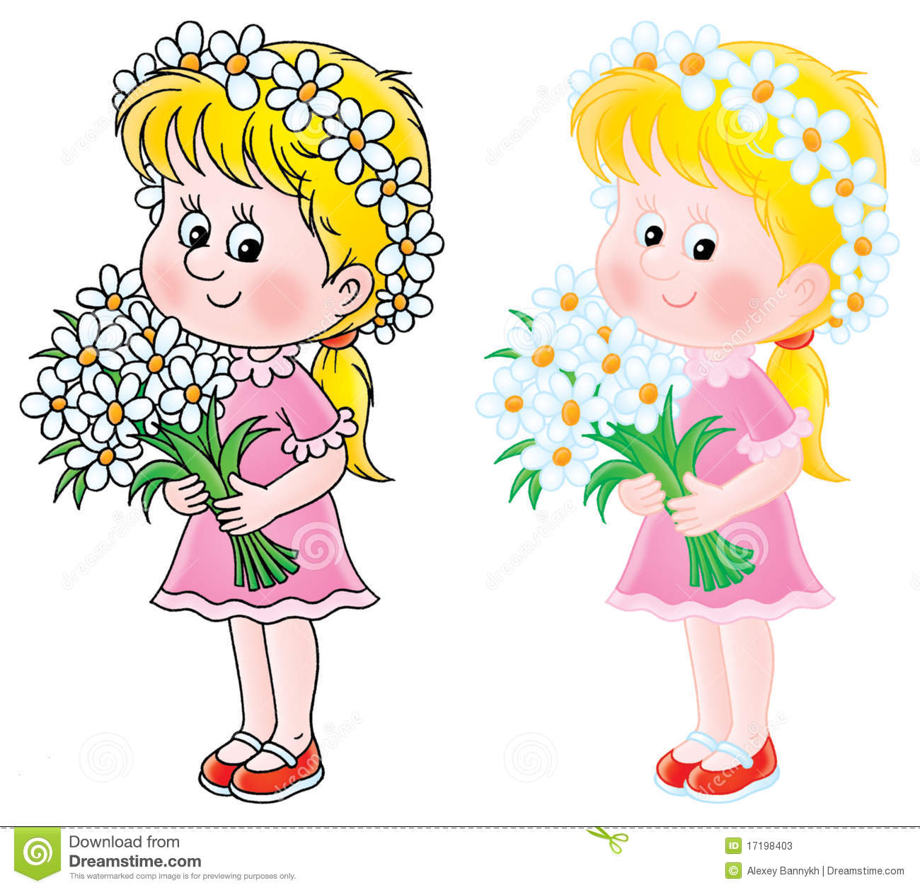 girl with flowers stock photos image 17198403 bouquet of flowers clip art free images bouquet of flowers clip art transparent gif