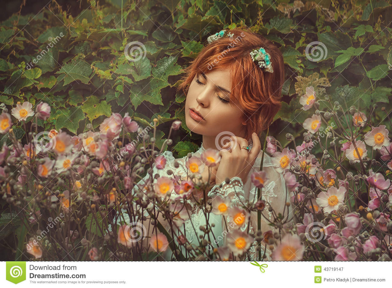Girl in flowers