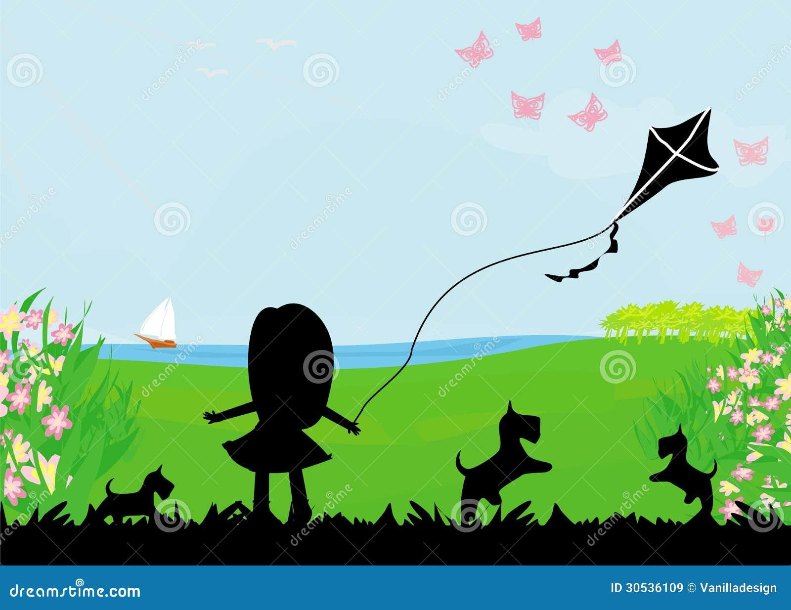 flying kite illustration - photo #15