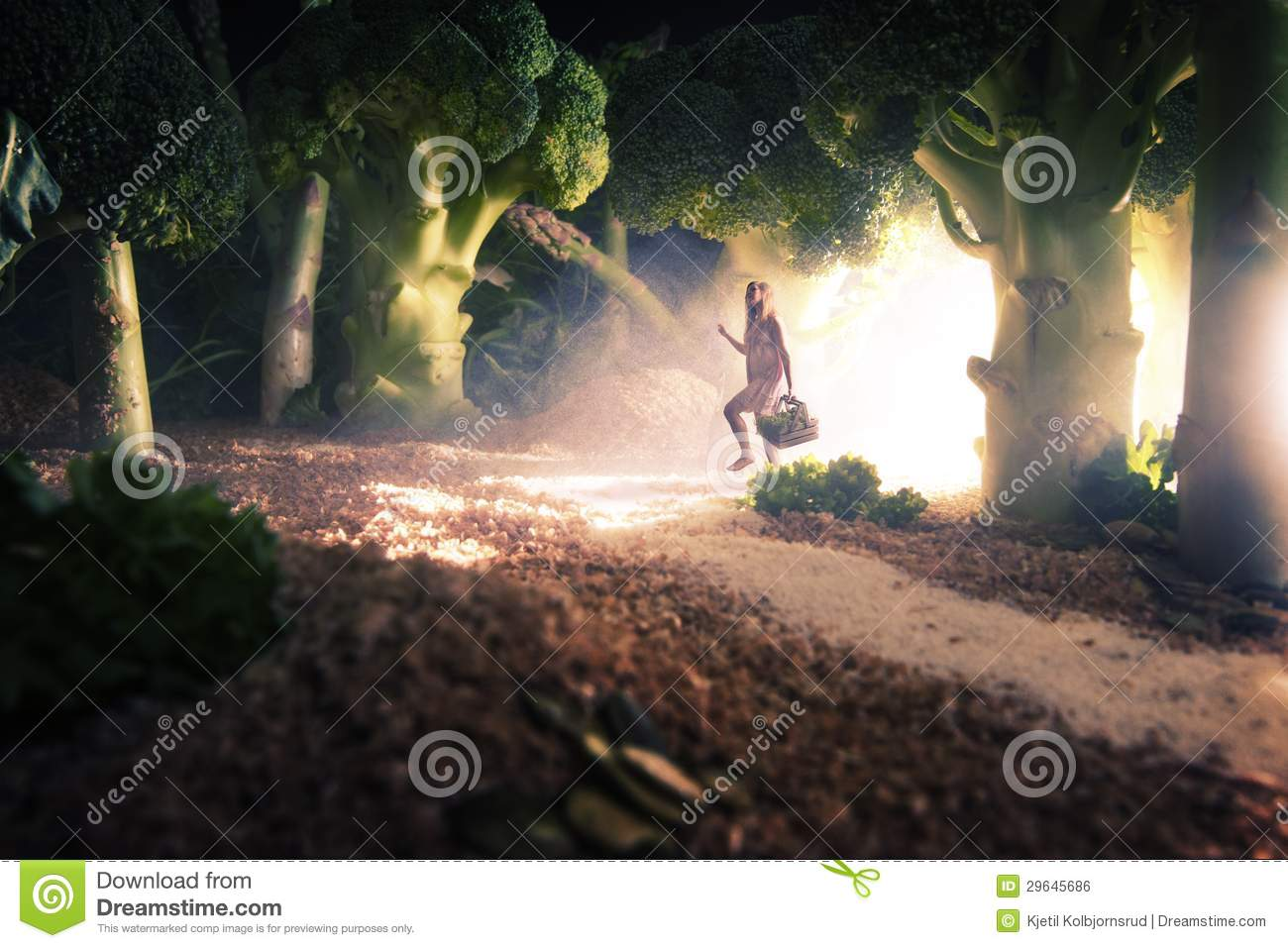 Girl in the food forest
