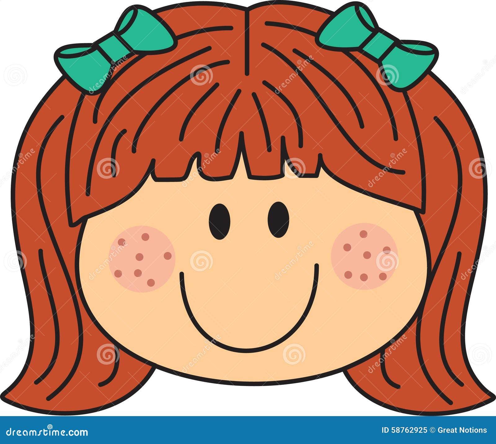 Freckle face cartoon