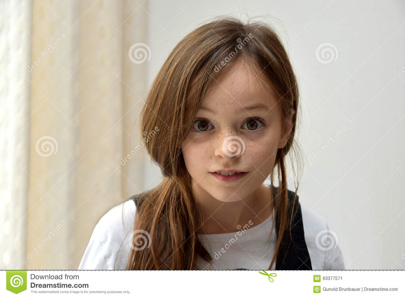 Girl with freckles stock photo image 63377571 Cute teenage girls pics
