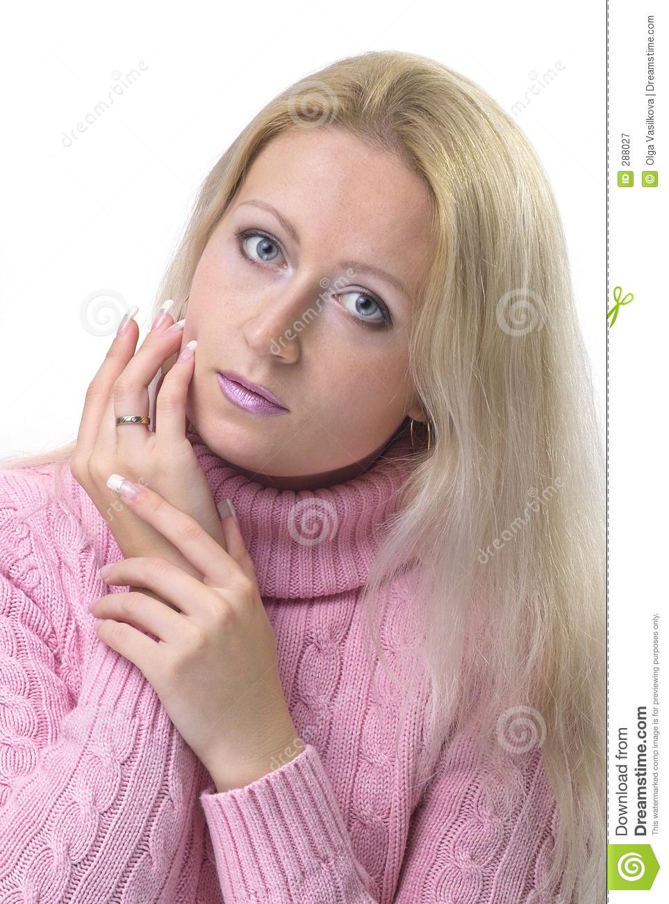 Girl With French Manicure Stock Image Image Of Beauty