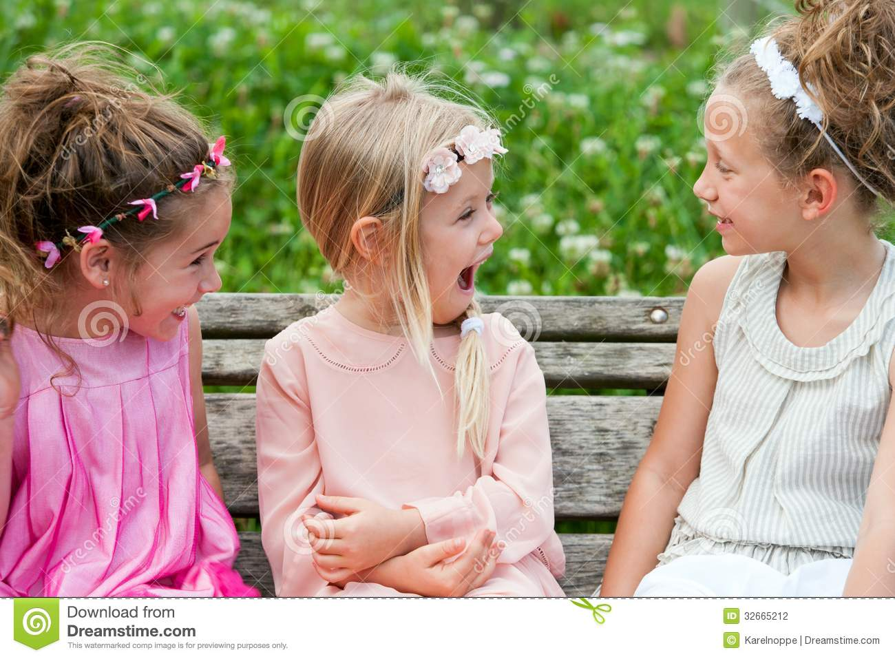 Girl Friends Having A Laugh In Park. Stock Photography - Image: 32665212