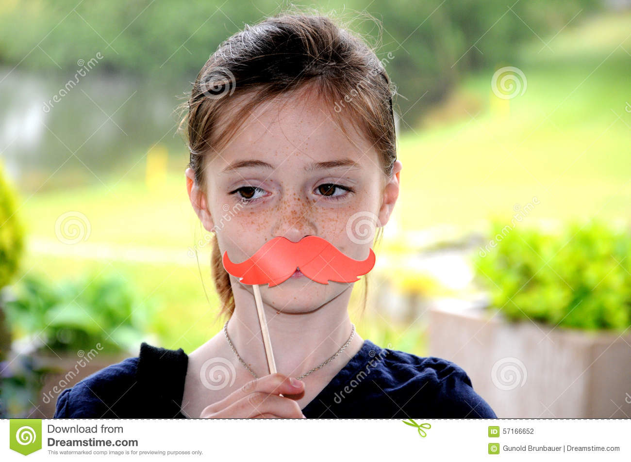 Gril Toy For Teenager : Girl in front of a photo booth stock image