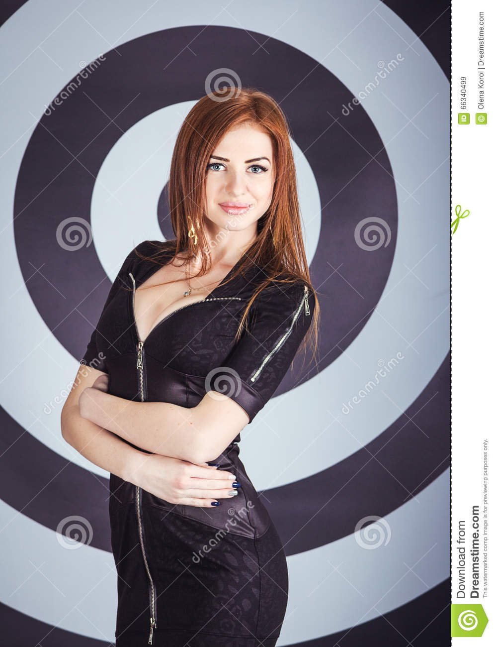 Girl In Front Of Target Background Stock Image - Image of