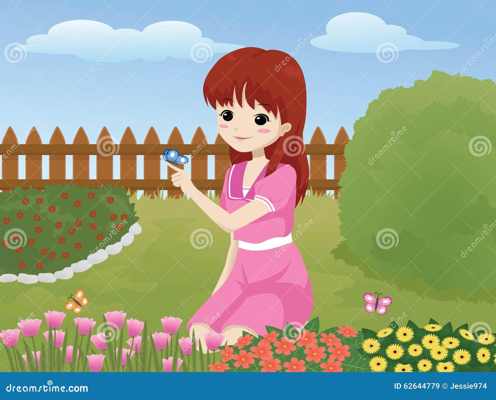 girl in the garden - The Girls In The Garden