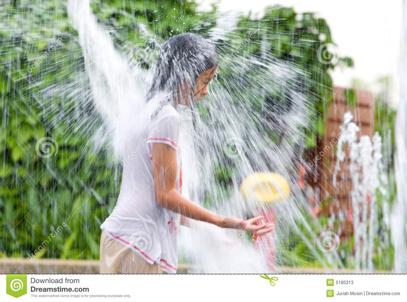 Girl Getting Drenched Stock Photos - Image: 5185313