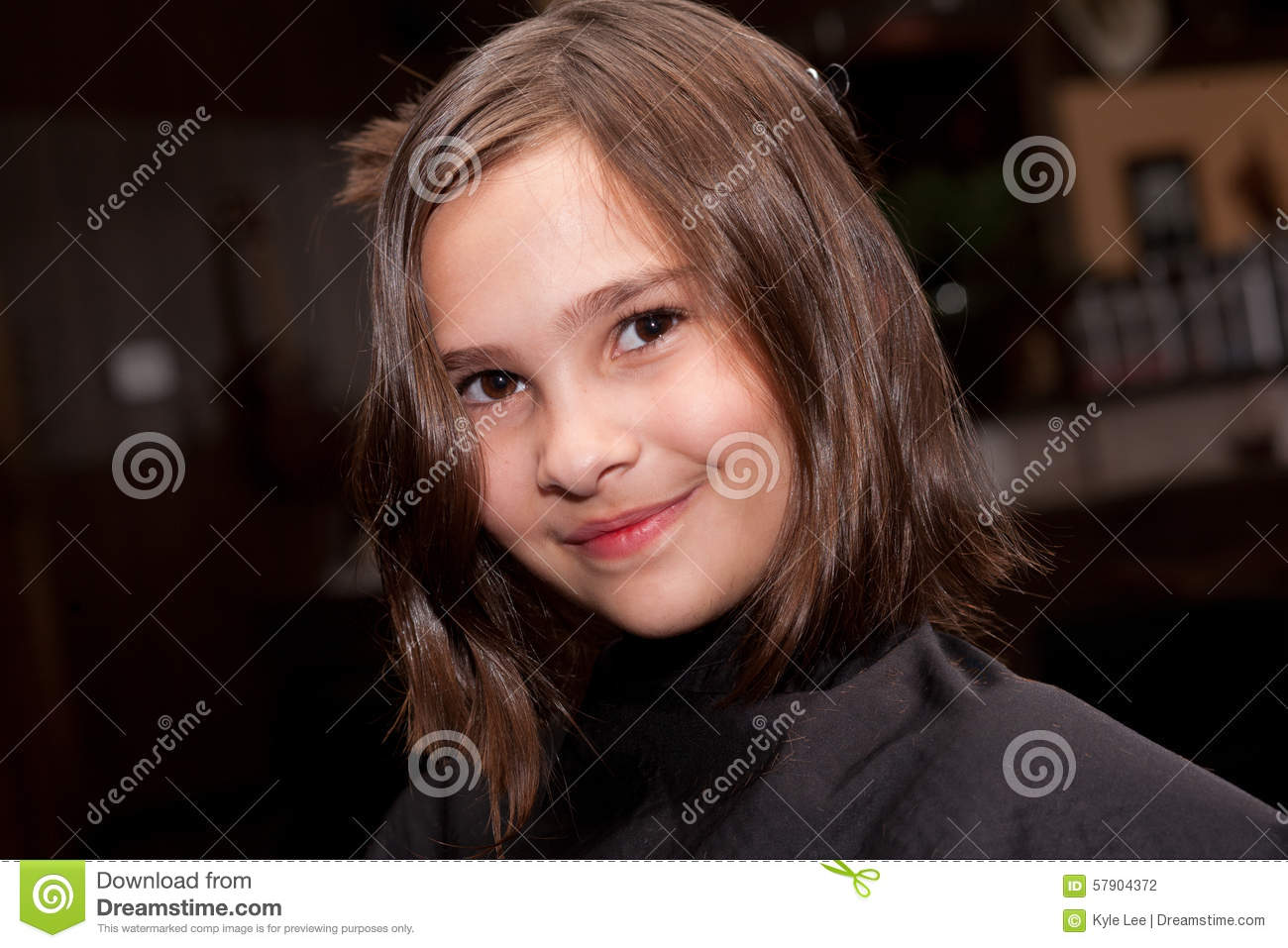 Girl Getting A Haircut Stock Photo Image Of Trim Beautician 57904372