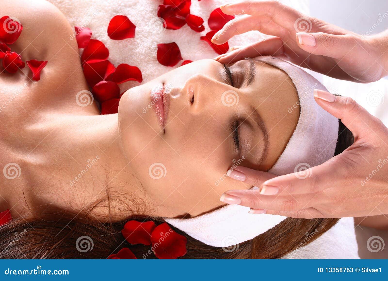 girl gets massage