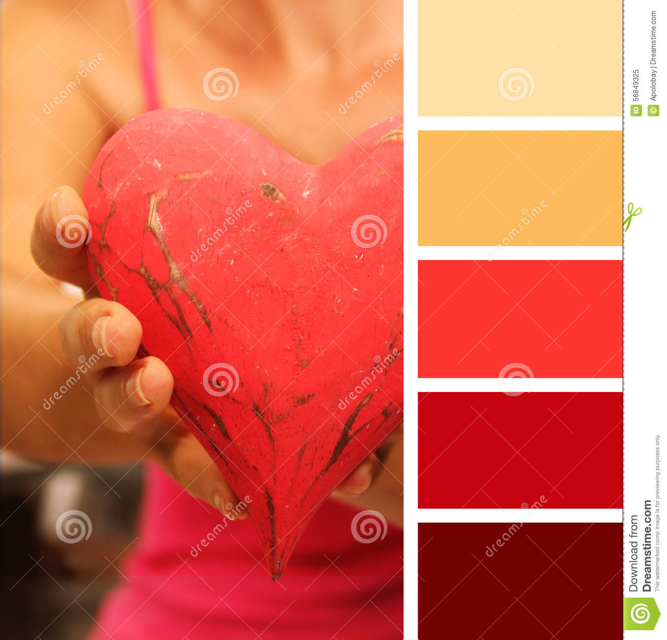 Girl Giving Hands Heart. Color Palette Swatches.. Pastel Hues ...