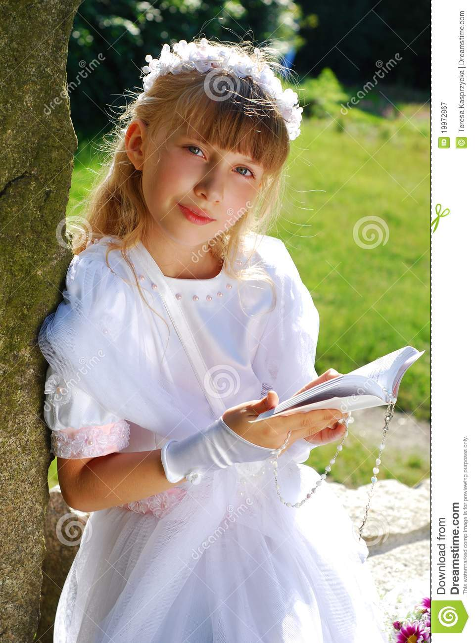 Girl Going To The First Holy Communion Stock Image - Image ...
