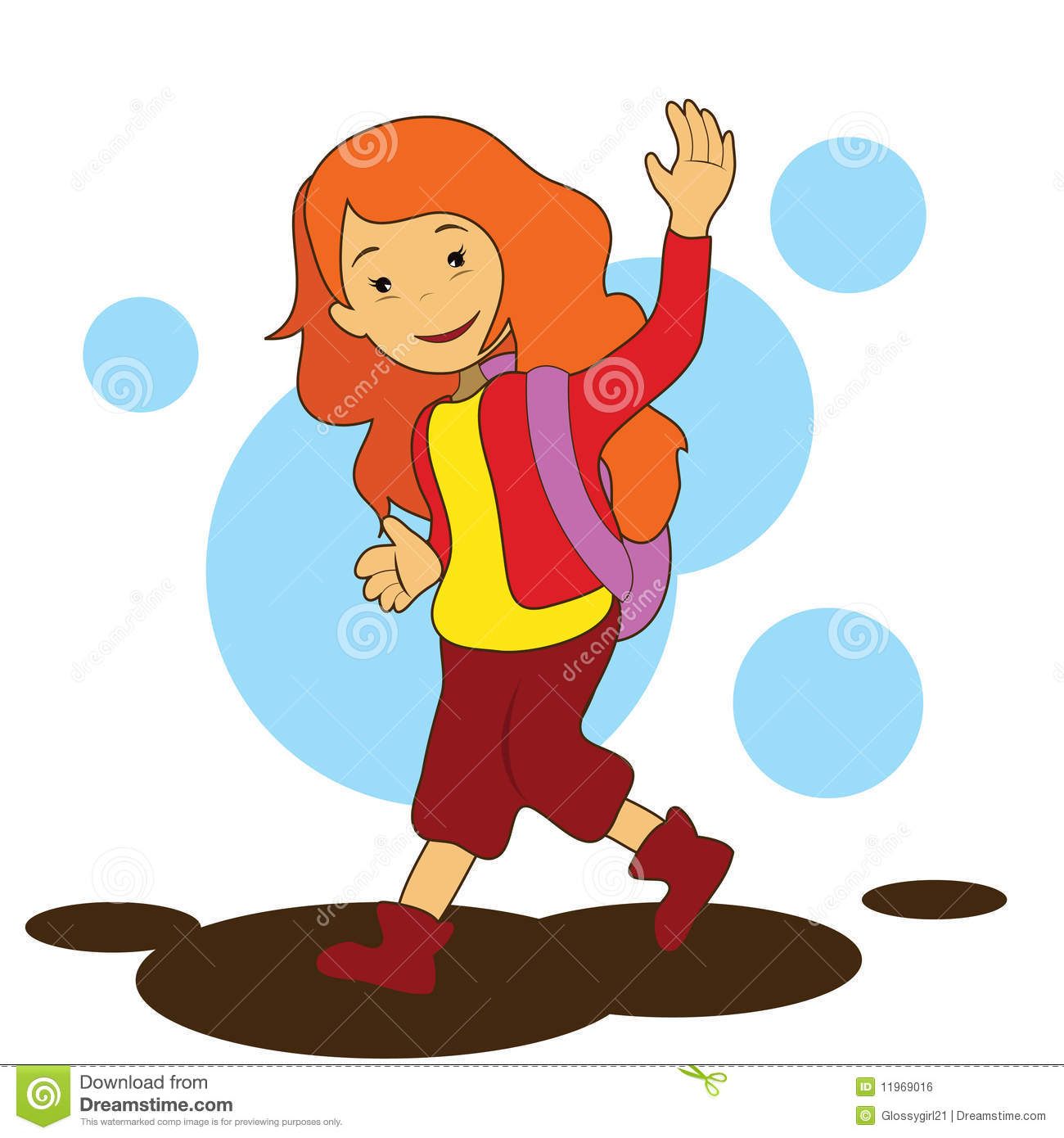 girl going to school stock vector illustration of black 11969016
