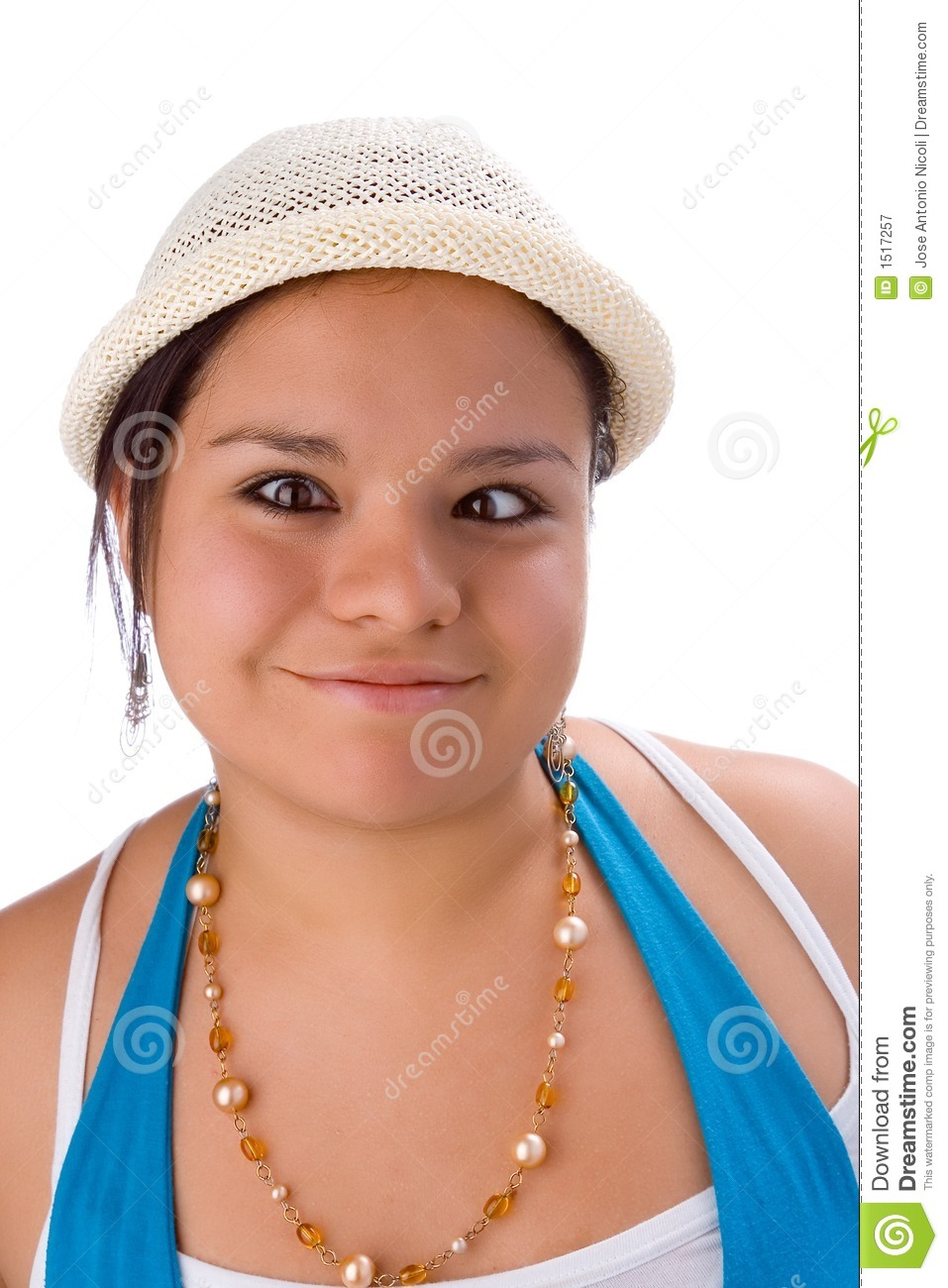 Girl With A Goofy And Cross-eyed Expression. Royalty Free Stock ...