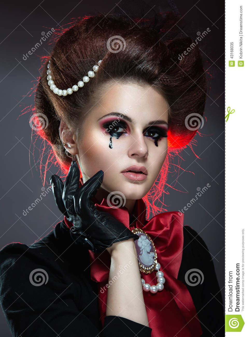 Girl In Gothic Art Style People