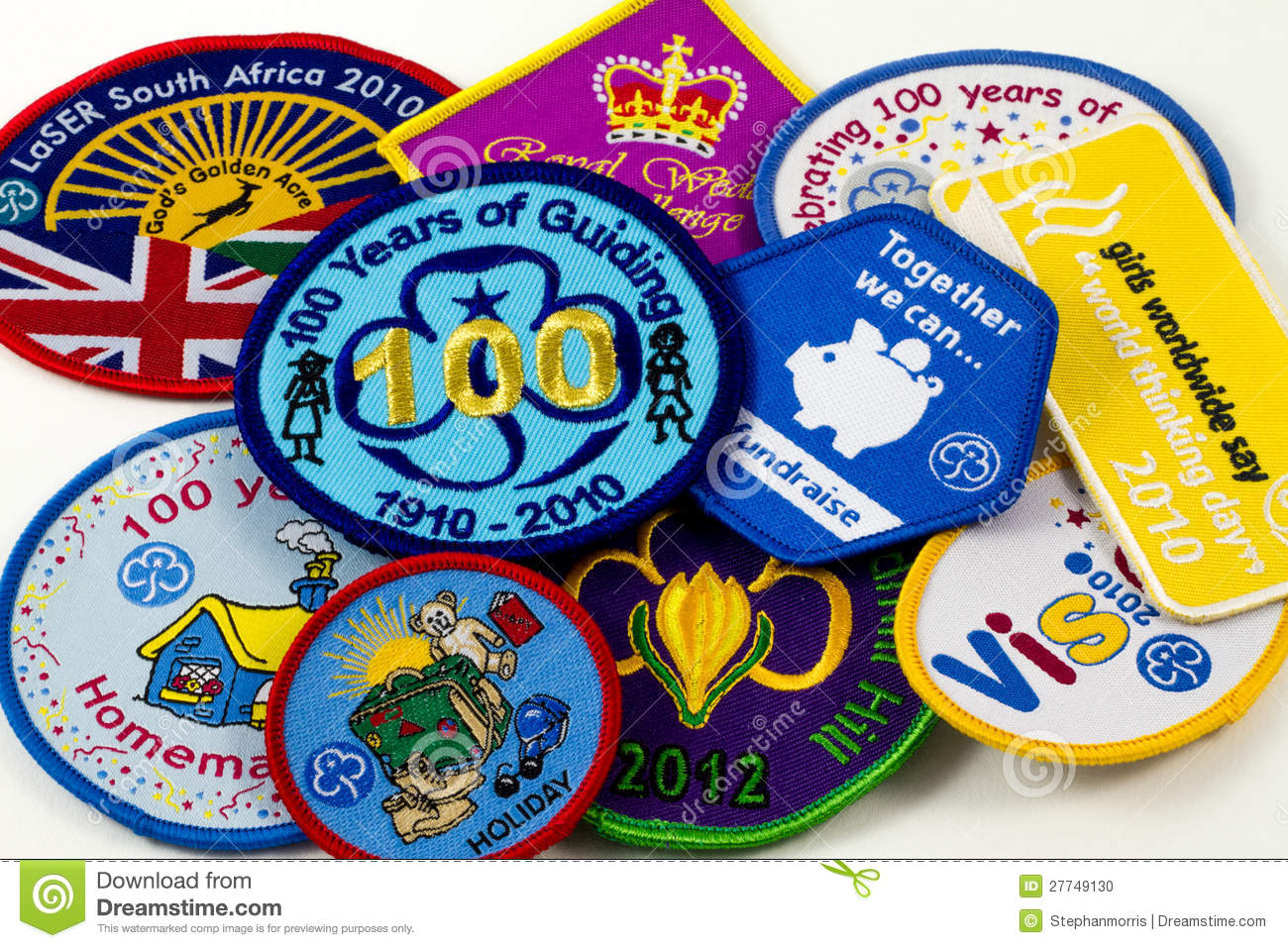 Girl Guiding Badges Editorial Image - Image: 27749130