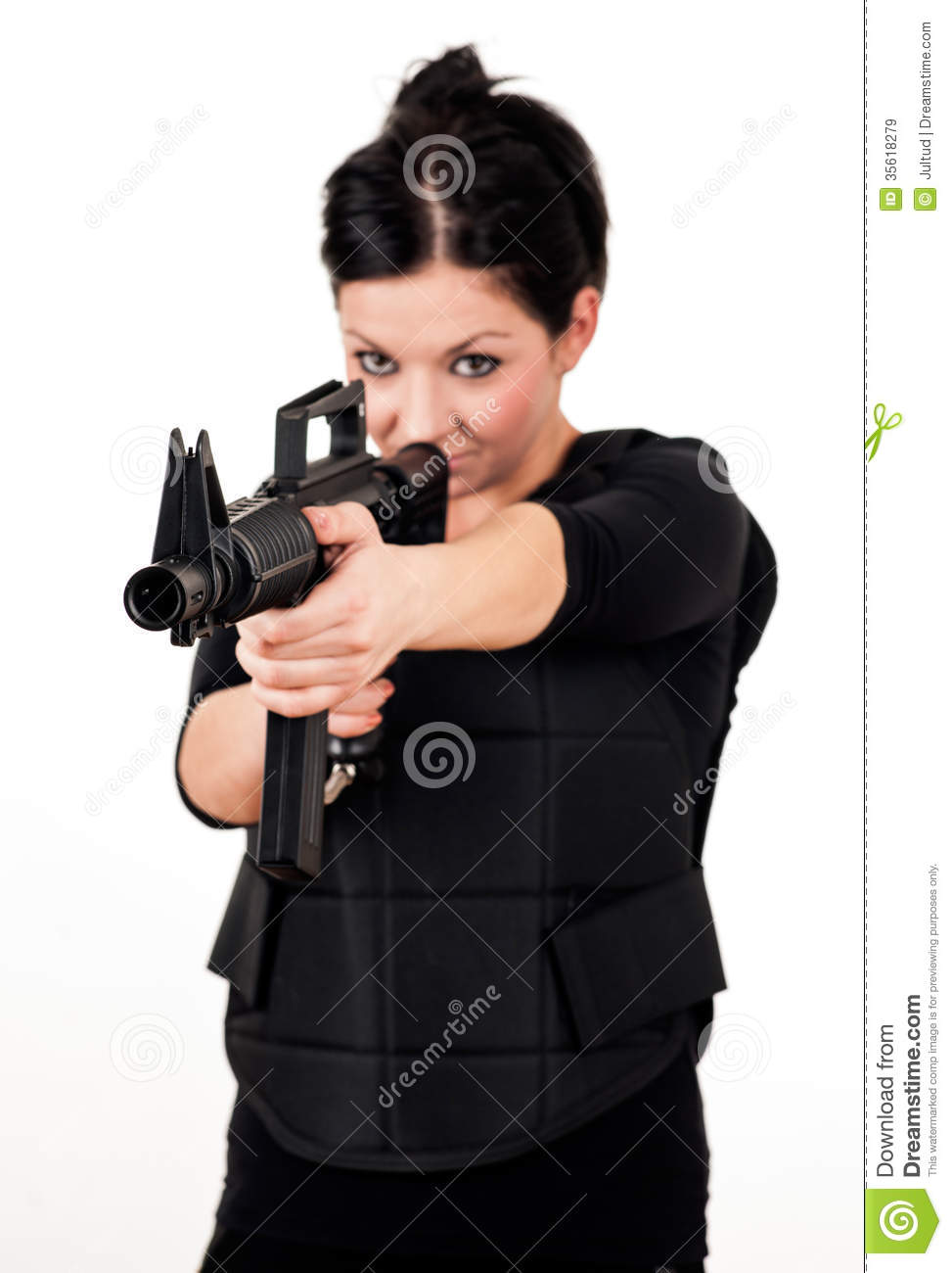 Woman Gun Stock Images, Royalty-Free Images & Vectors.