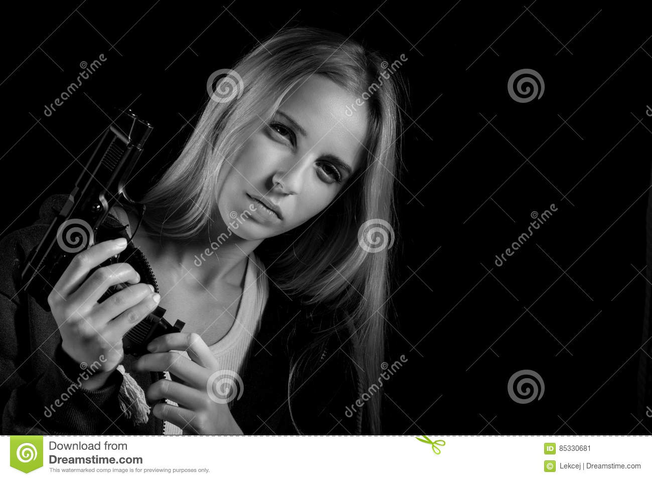 Girl gun stock images download 18956 royalty free photos