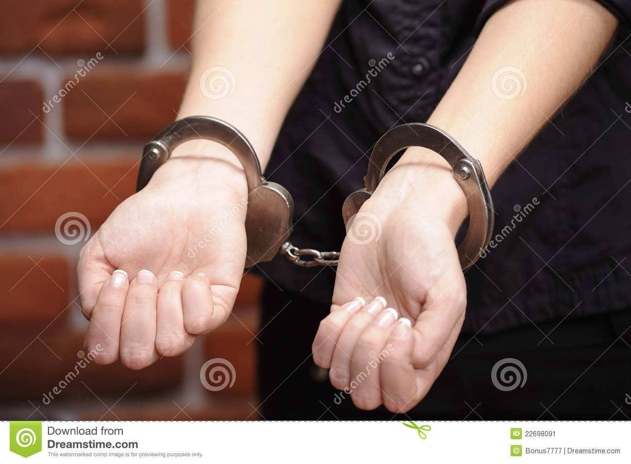 girl in handcuffs stock image image 22698091 clip art handcuffed felon clip art handcuff keys