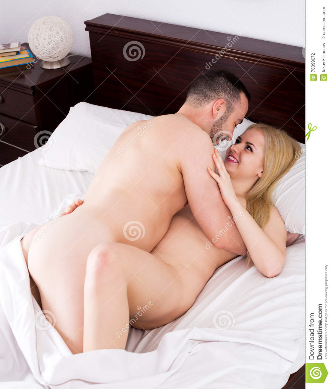 girl and handsome boyfriend having sex stock photo - image of