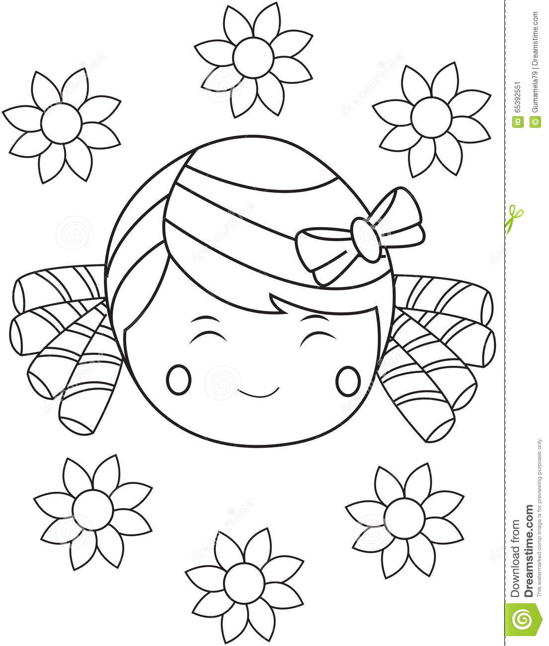 Girl with Happy Face