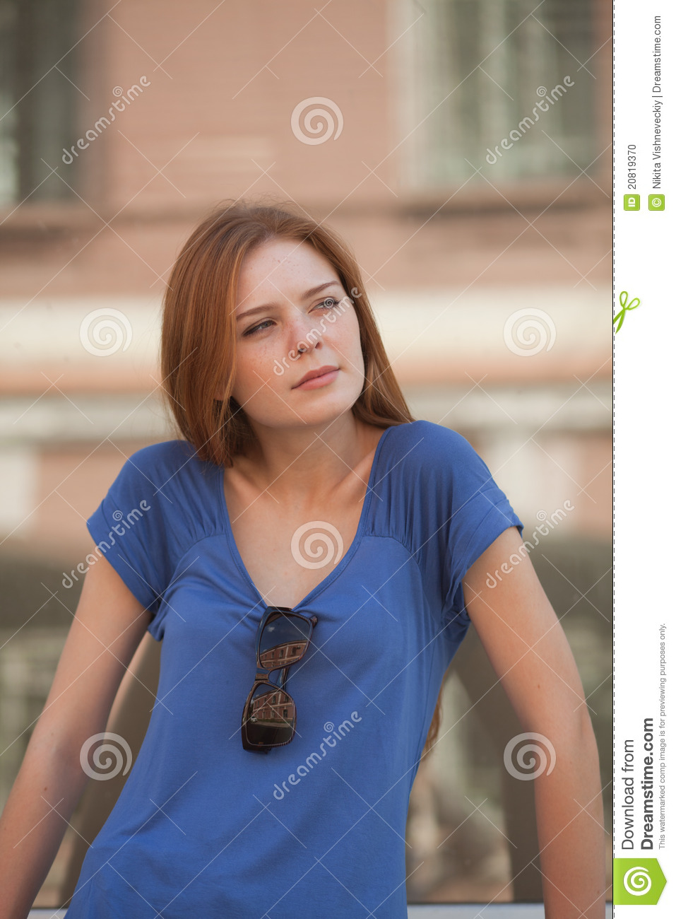 Girl In The Haughty Look In The Direction Of Stock Photo ...