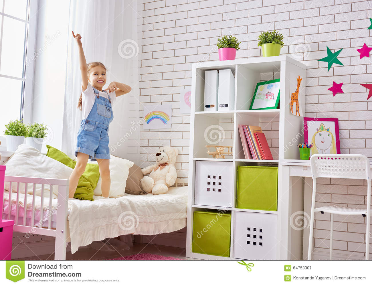 Girl Having Fun Stock Photo Image 64753307