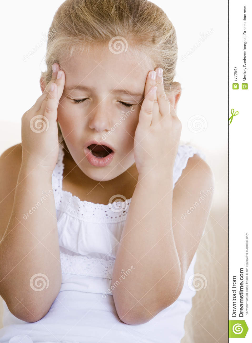 Girl With A Headache Stock Photo Image Of Blond Problems 7772548