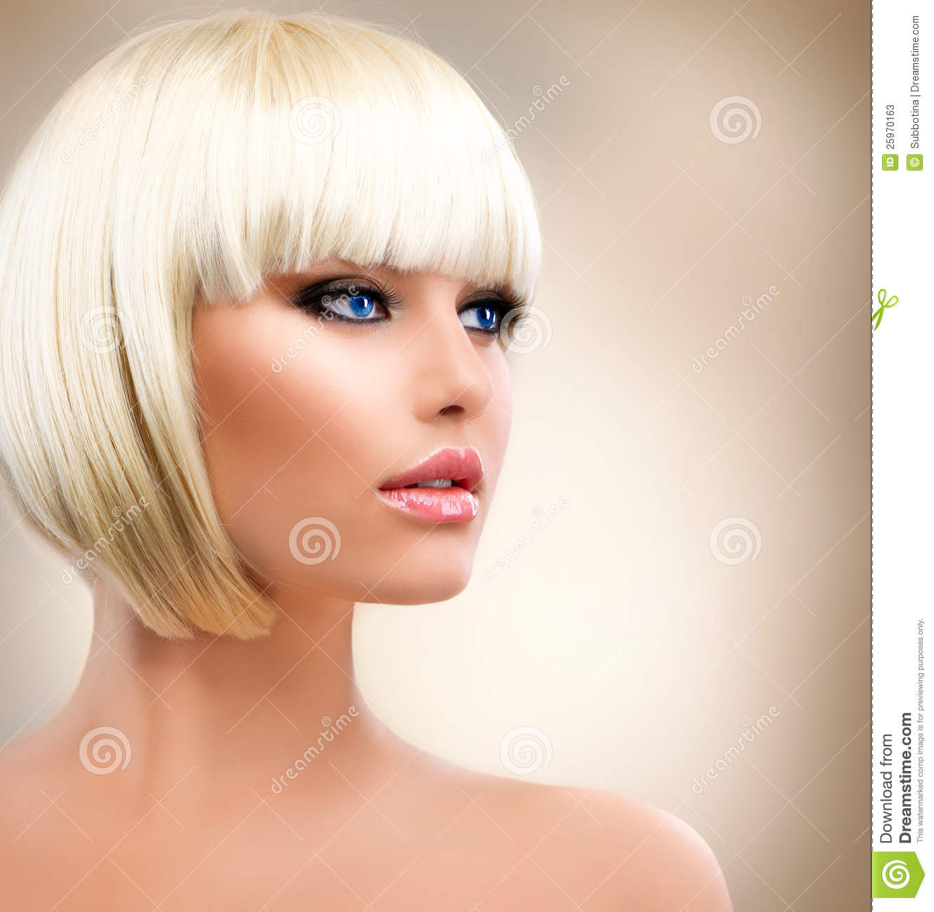 Girl With Healthy Short Hair Stock Photos Image 25970163