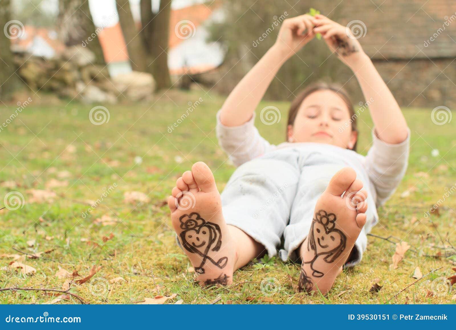 ebony bare feet nude