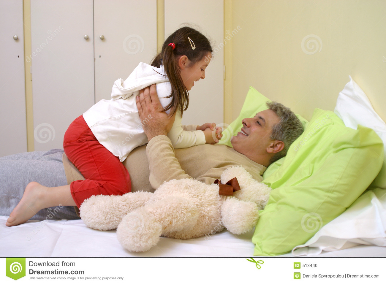 Girl with her daddy