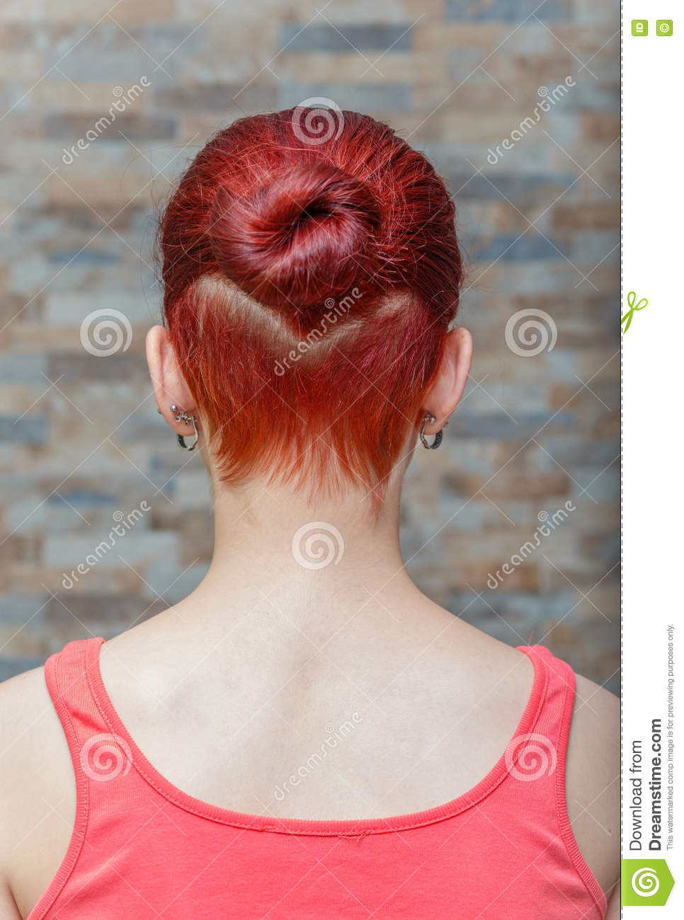 Girl With Hidden Undercut Hair Stock Photo - Image of close
