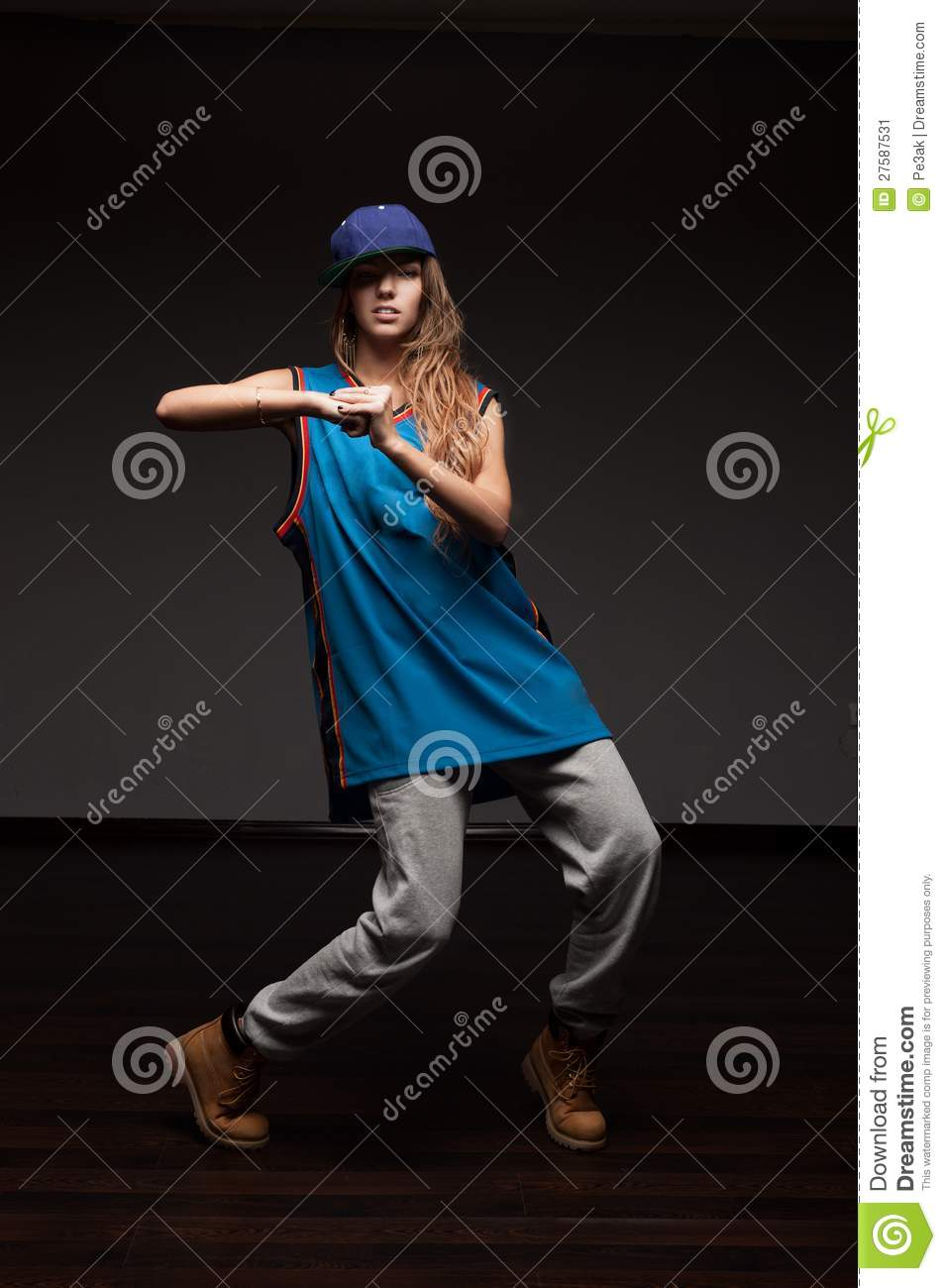 Girl Hip-Hop Dancer Stock Image Image Of Isolated -4981