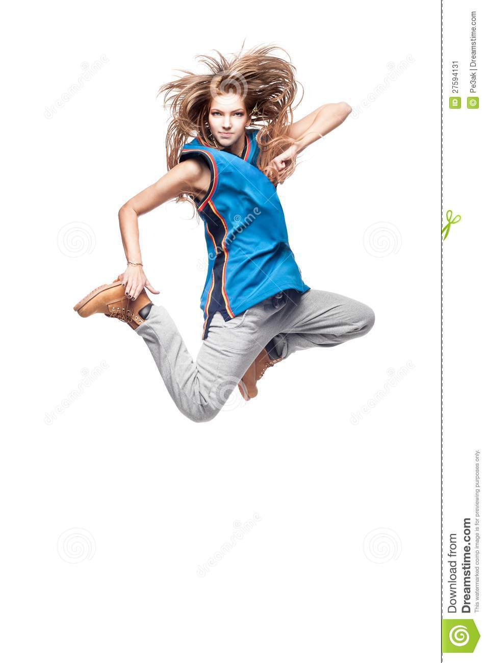 Girl Hip-Hop Dancer Stock Image - Image 27594131-5325