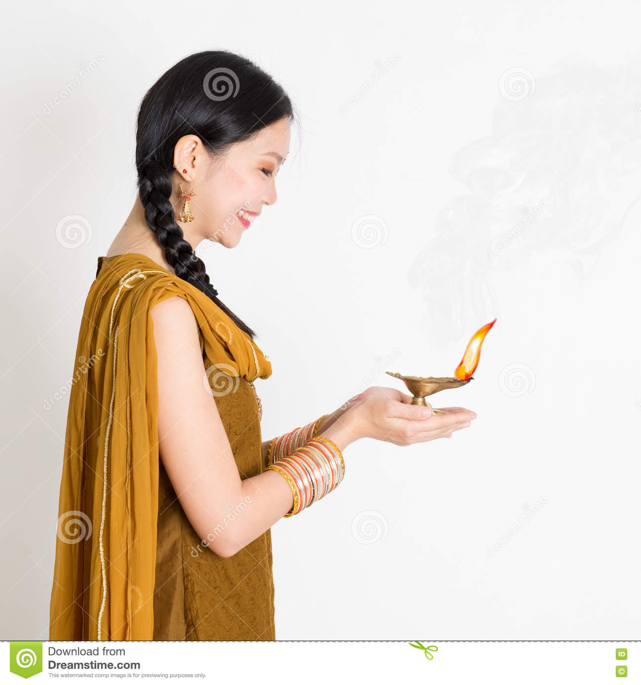 Girl holding diya light stock photo. Image of diya, festival ... for Girl Holding Lamp  303mzq