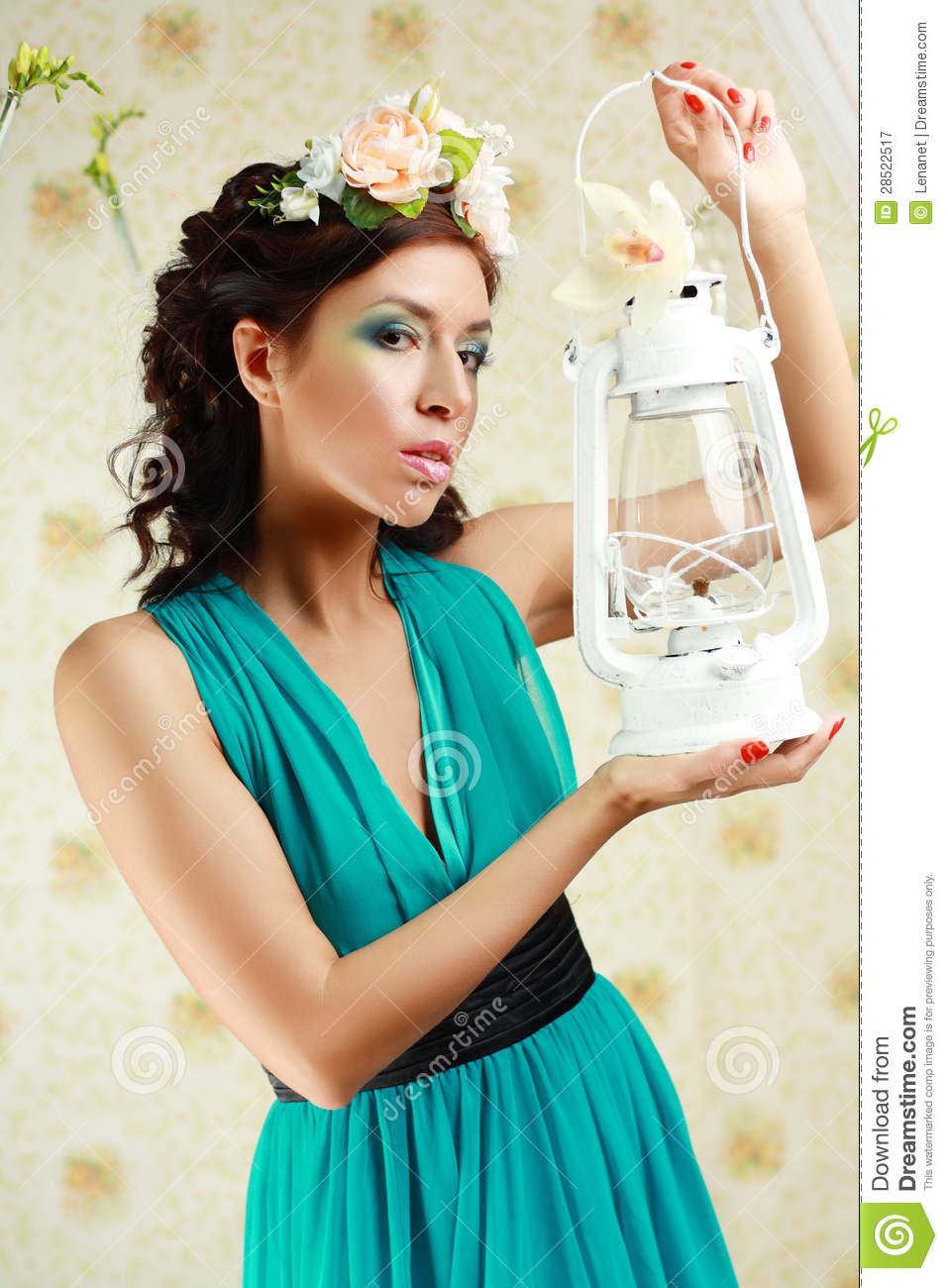 Girl holding lamp stock image. Image of color, bunch - 28522517 for Girl Holding Lamp  589hul