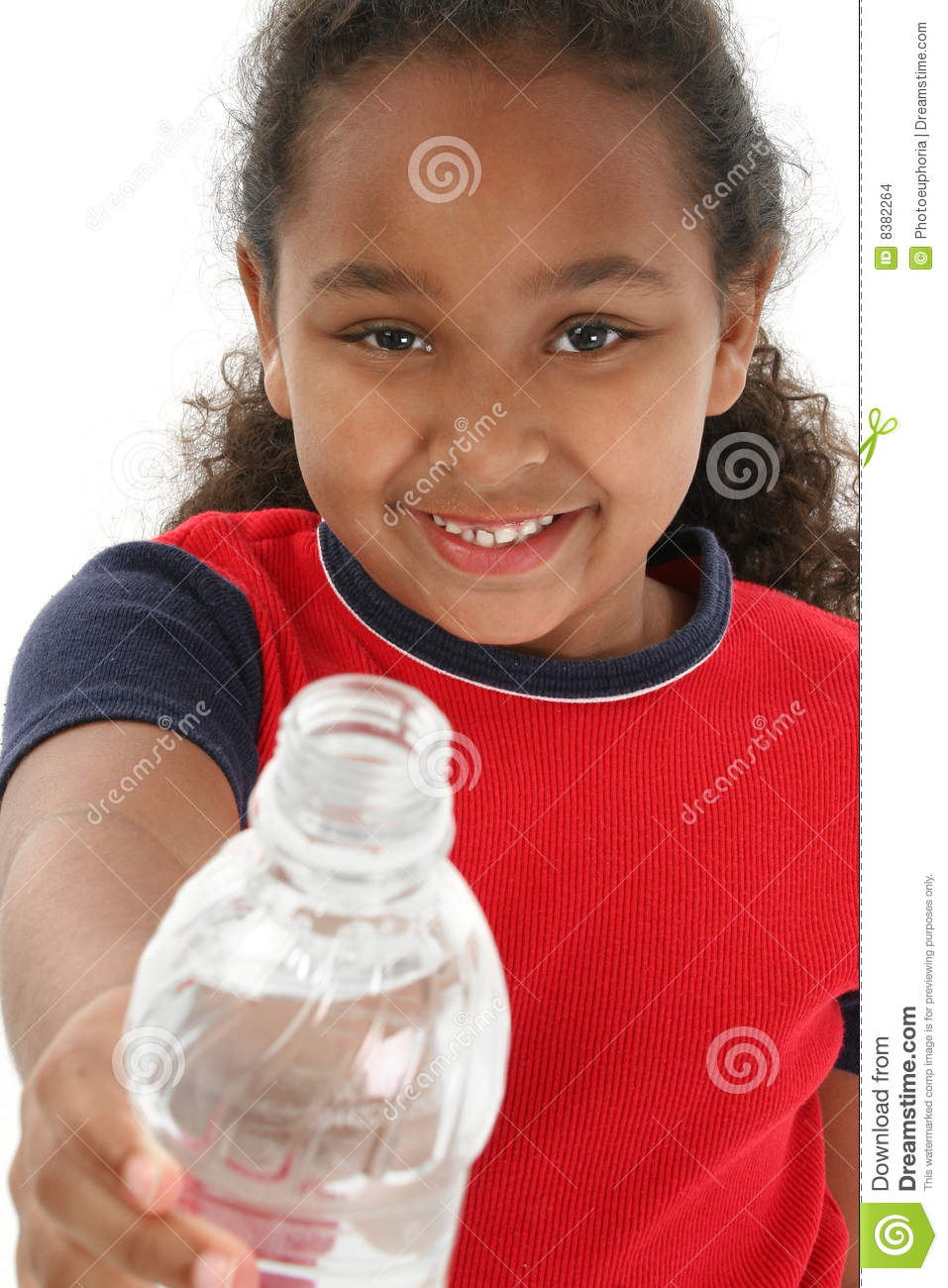 Girl Holding Water Bottle Stock Images - Image: 8382264