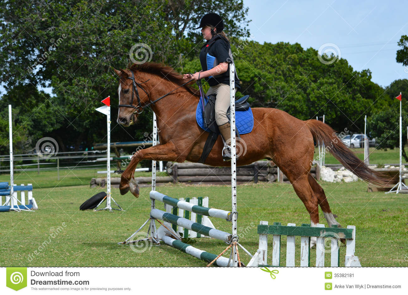 Girl horse back riding stock image. Image of equestrian ... - photo#38