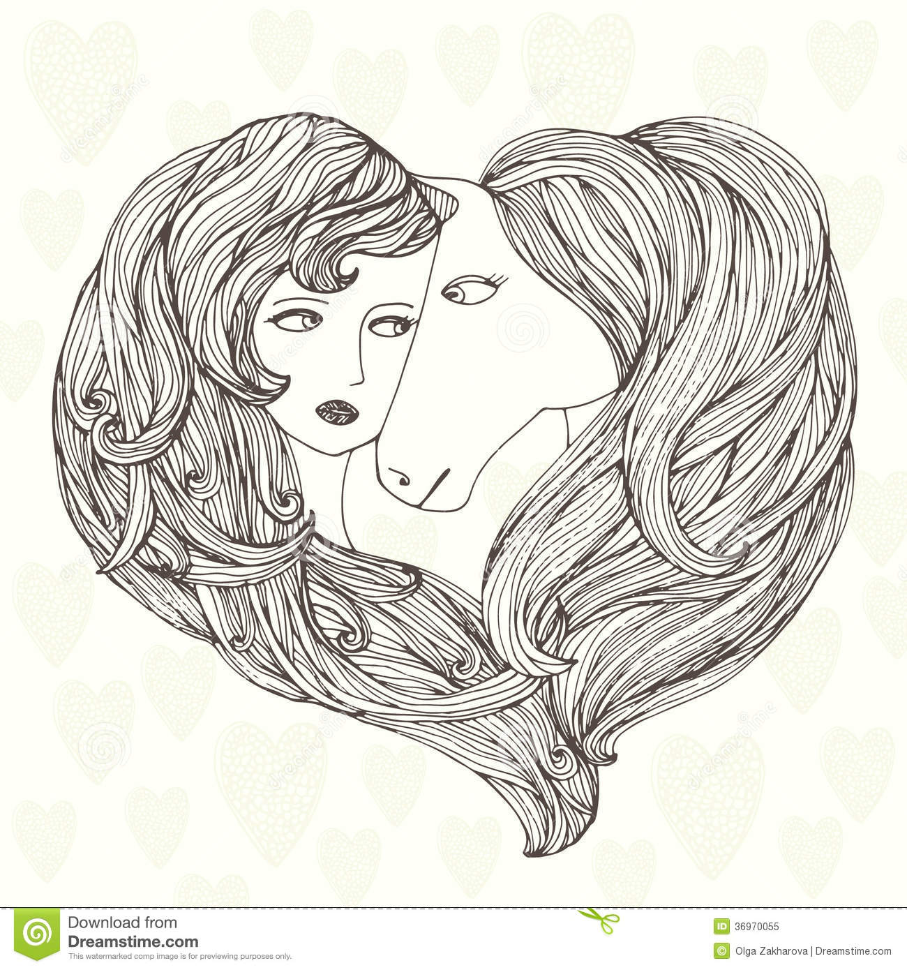 Girl And Horse Stock Vector. Illustration Of Design
