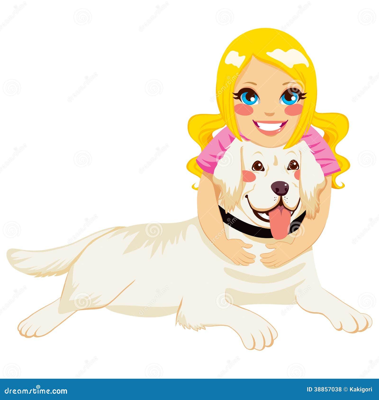 girl hugging dog stock vector image 38857038 Black Labrador Retriever Clip Art labrador retriever clip art line drawing