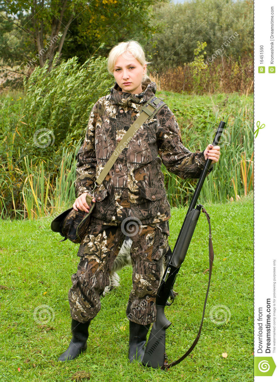 Girl Hunter. Stock Pho...
