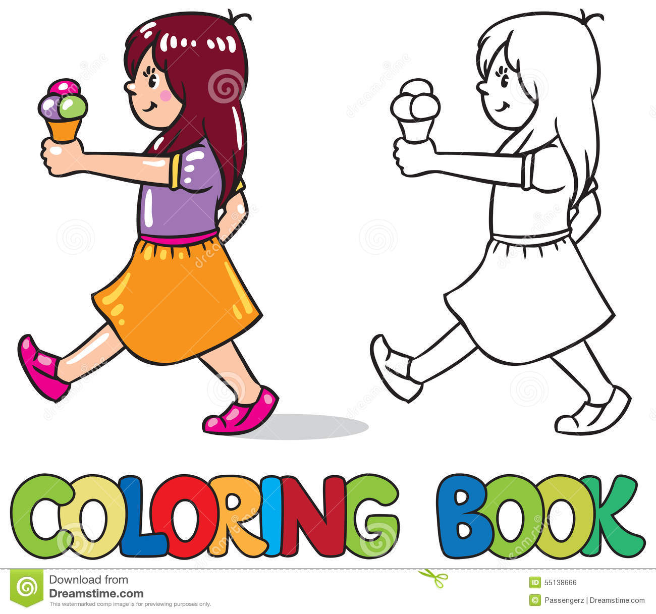 with ice cream coloring book stock photo image 55138666