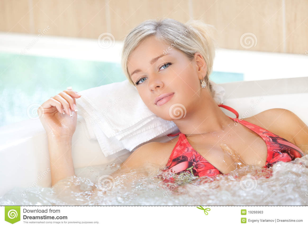 Girl In Jacuzzi Stock Photos  Image: 19266963