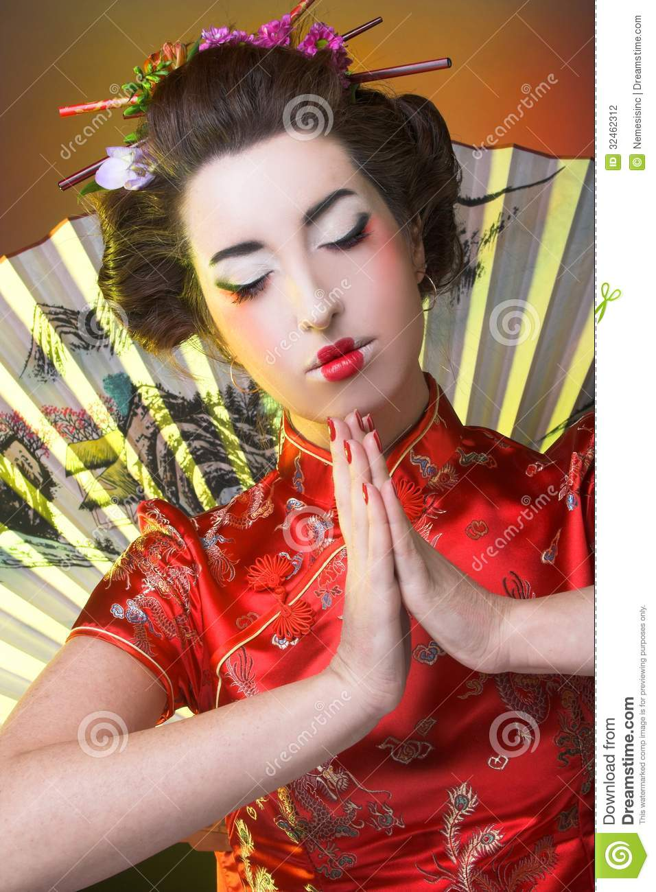 Girl In Japanese Style Stock Photo Image Of Hair Females