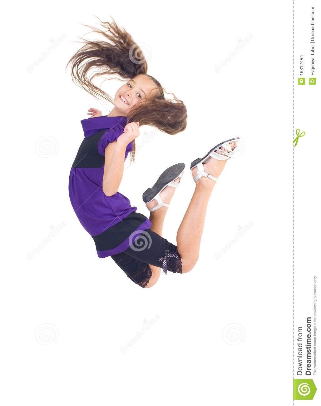The girl jumped up stock photo. Image of cheer, honey ...