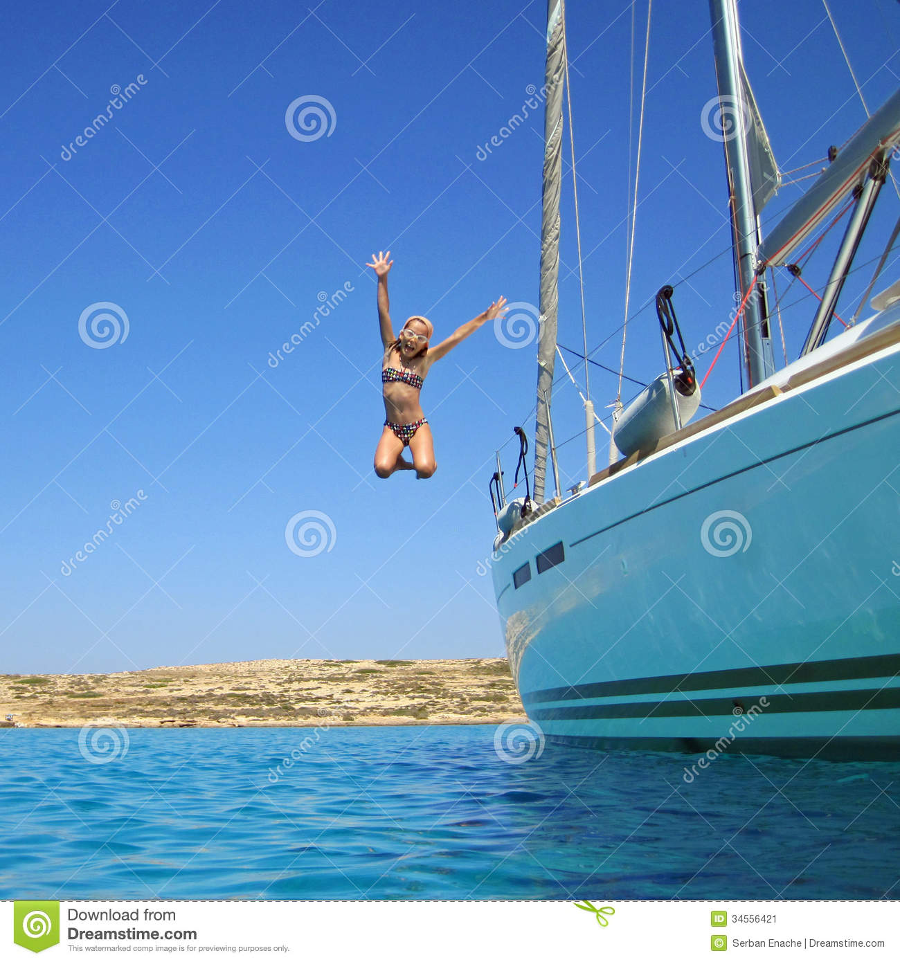 girl jumping in sea off boat stock image image 34556421 yacht clip art frames yacht clip art frames