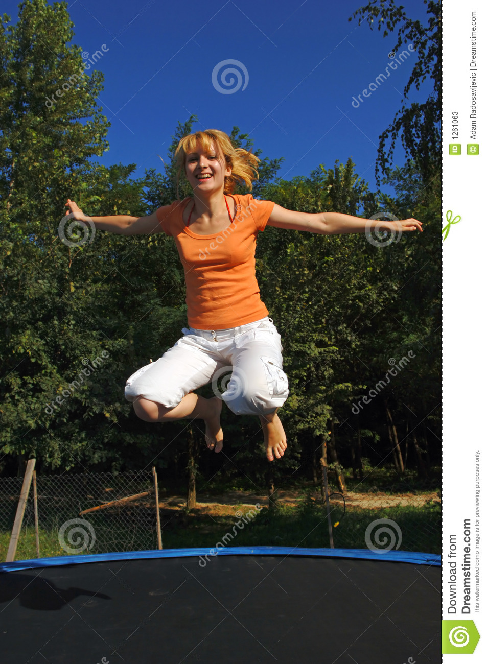Excited too Chubby girl on trampoline naked seems
