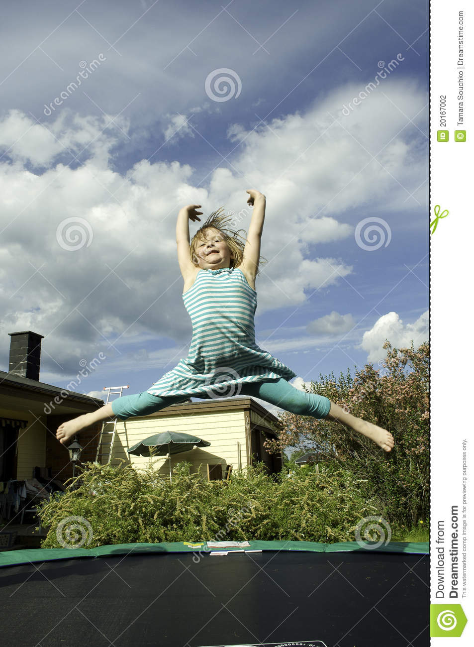Girl Jumping On A Trampoline Stock Photography - Image -1885