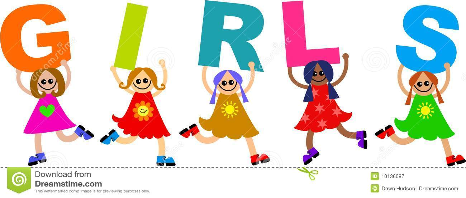 Girl kids stock illustration. Image of isolated, childhood ...