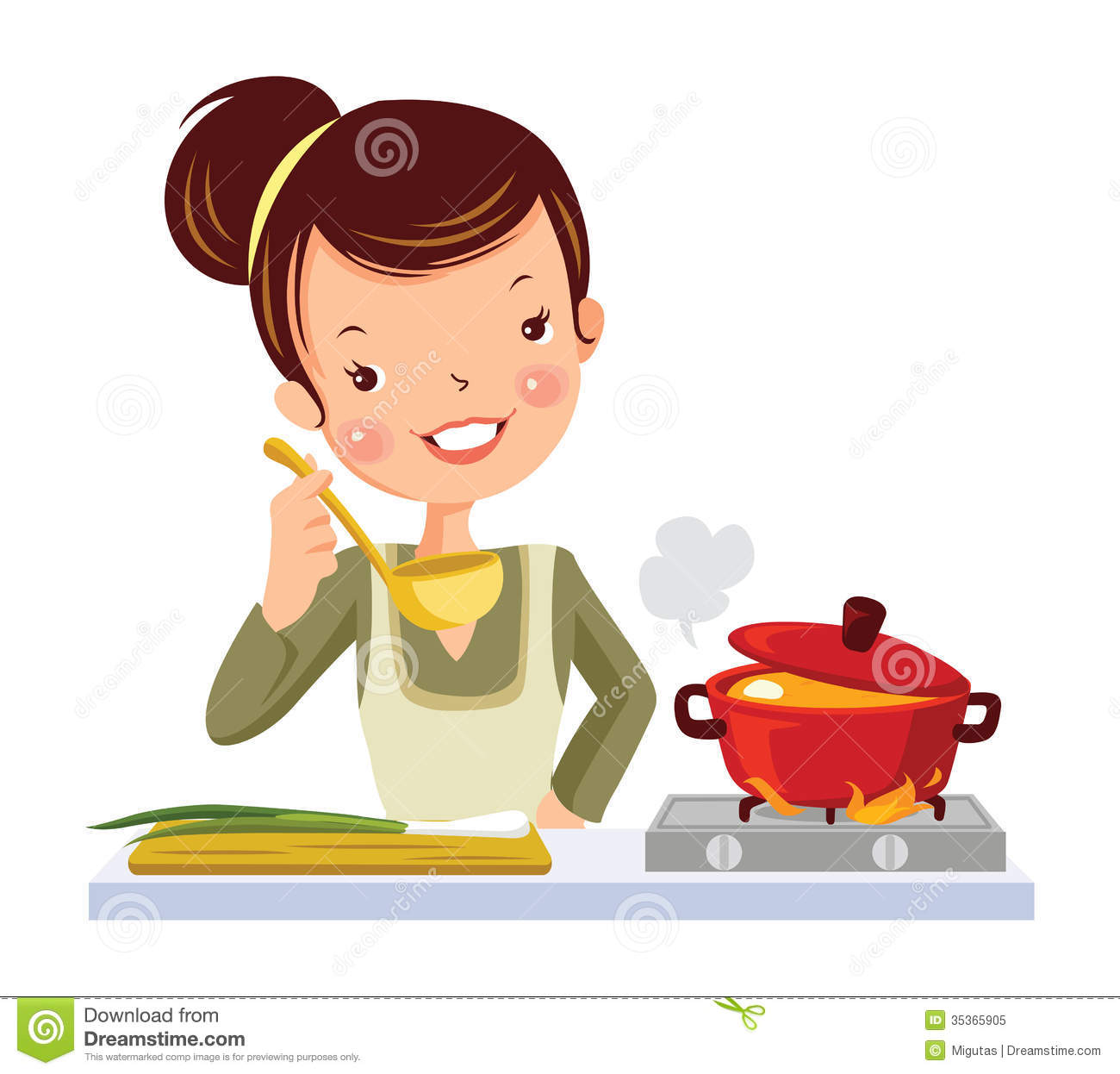 Girl In Kitchen Royalty Free Stock Photo Image